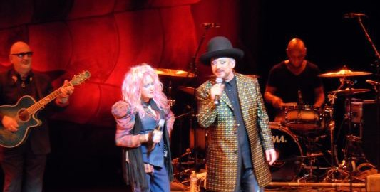 Cyndi Lauper and Boy George