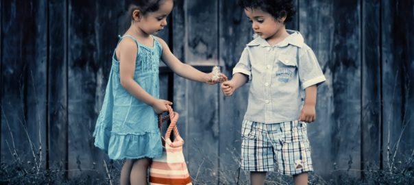 children being kind